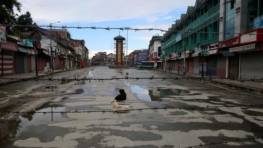 Baja presencia estudiantil mientras abren escuelas en la Cachemira india