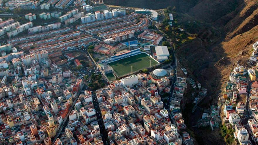 Vista aérea del barrio de La Salud, en la capital tinerfeña