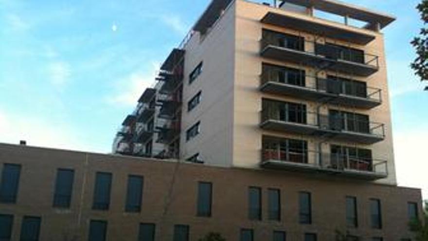 Fachada de un bloque de vivienda