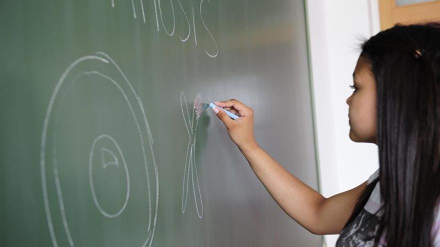 Alumna en clase