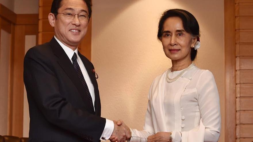 Japón y Birmania acuerdan cooperar para resolver el conflicto étnico en Myanmar