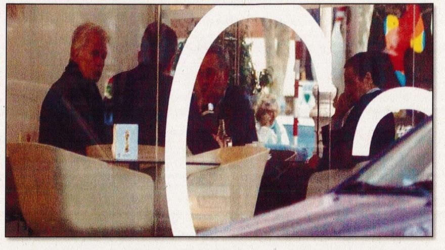 Los investigados Roberto Bataouche, Francisco Grau, Joaquín Barceló y Eduardo Zaplana en una reunión captada por la Guardia Civil