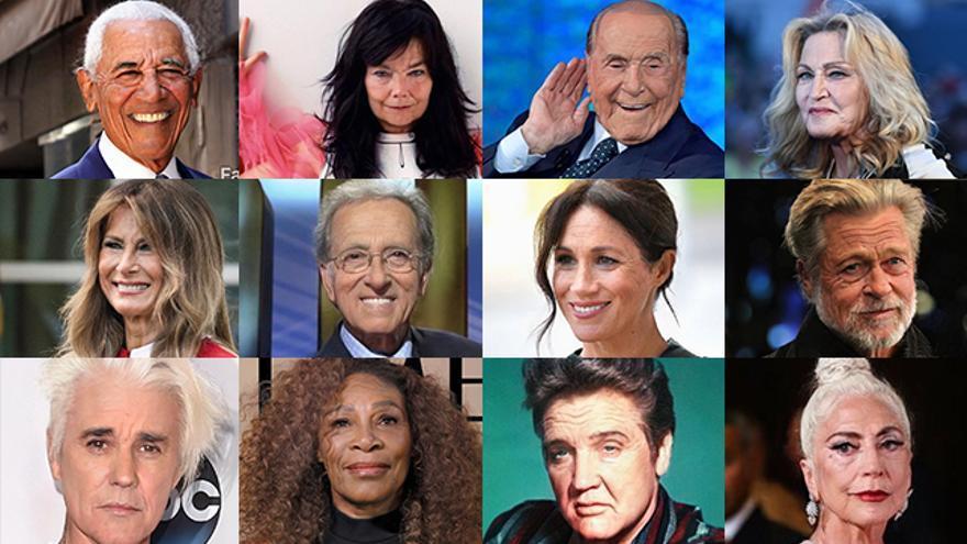 Caras conocidas con el filtro de edad de FaceApp.