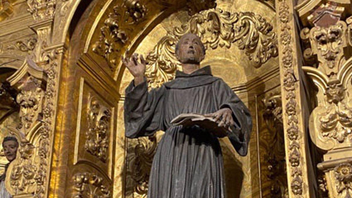 Imagen de San Pedro de Alcántara que será restaurada.