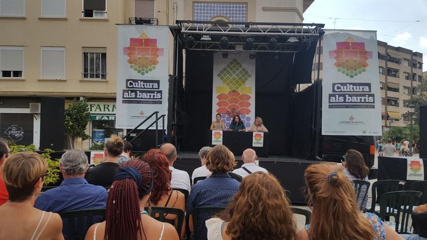 Acto de presentación de 'Cultura als Barris'