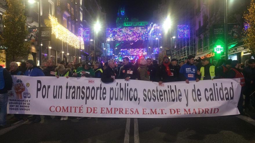 Manifestación de la EMT