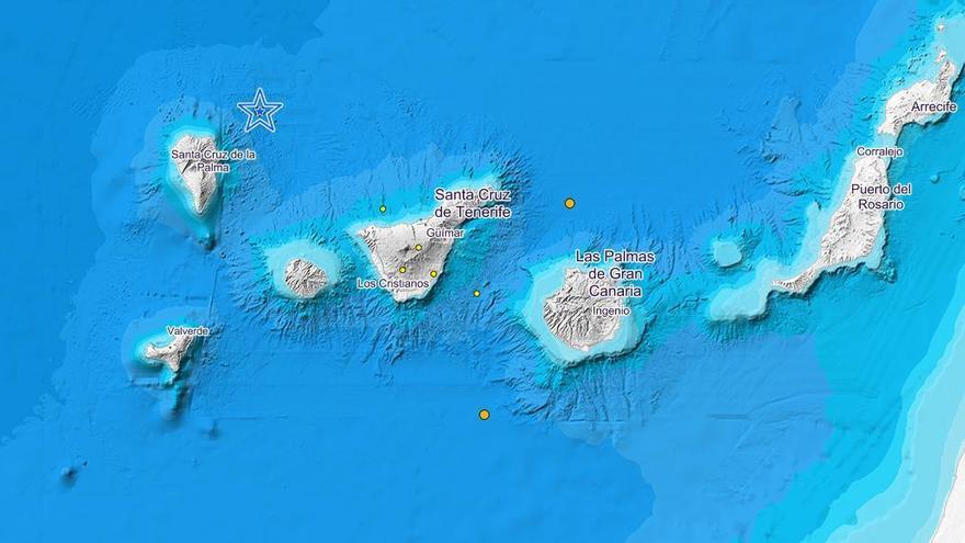 Últimos temblores registrados por el IGN en Canarias