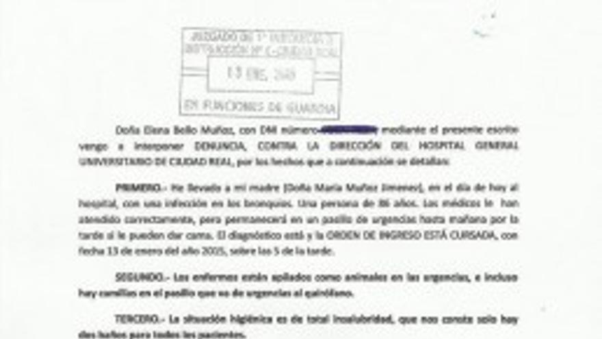 Denuncia por la saturación de urgencias de Ciudad Real