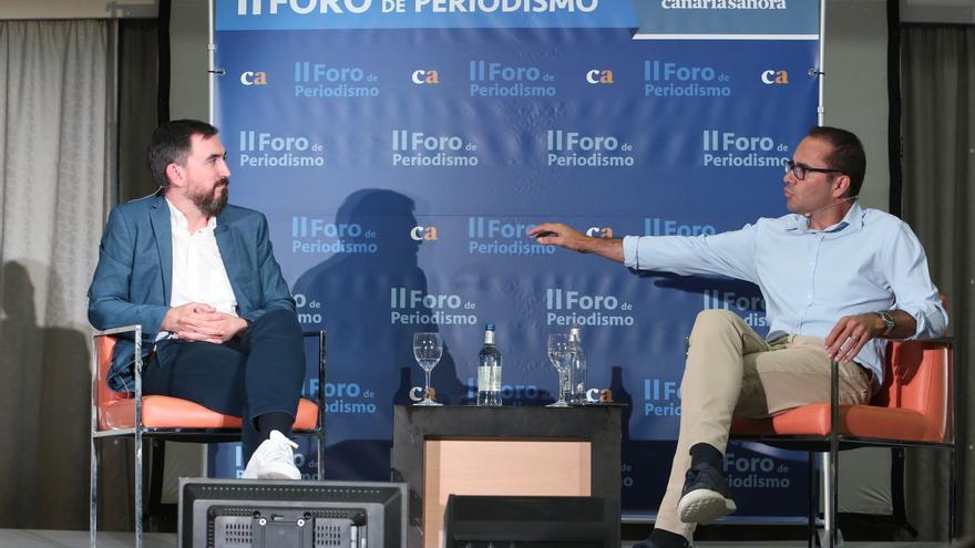 Ignacio Escolar y David Jiménez, en el II Foro de Periodismo de Canarias Ahora