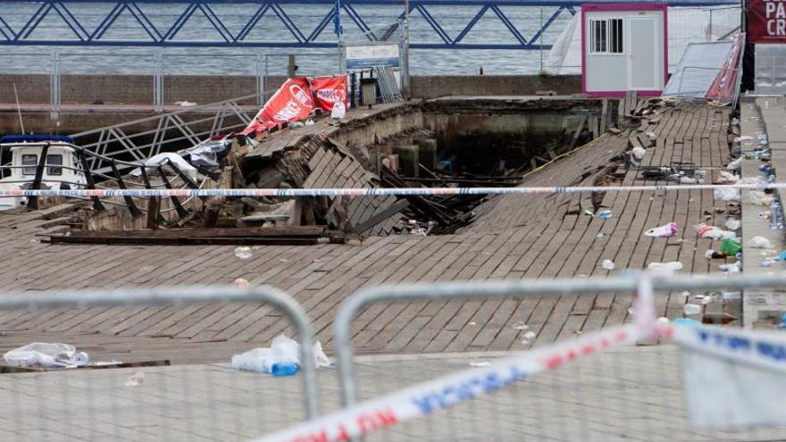 El Puerto de Vigo cree que el derrumbe acabará en el juzgado