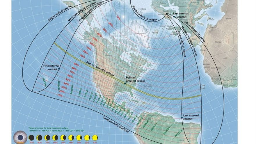 El eclipse solar en EEUU
