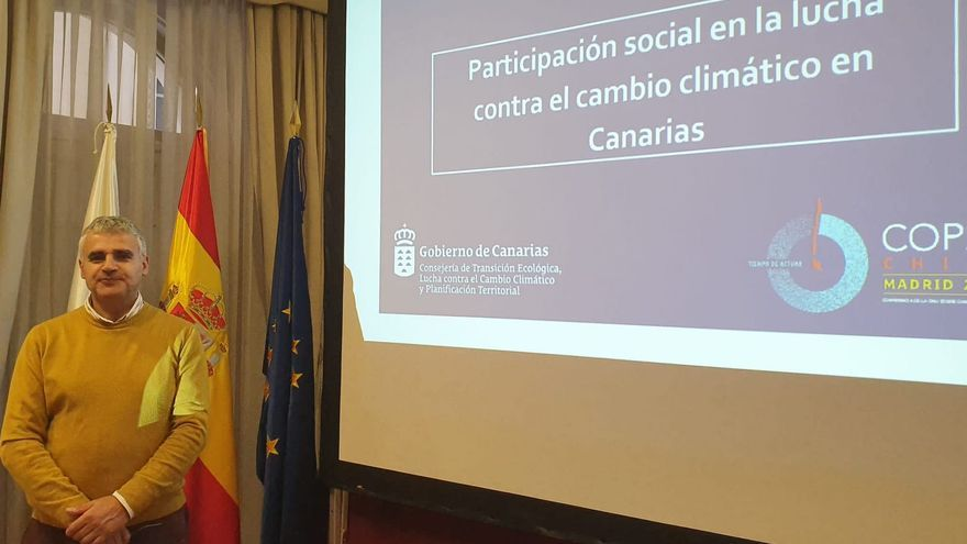 Eduardo Calderón en la Cumbre Mundial del Cambio Climático.