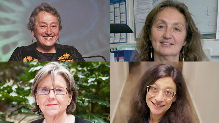 Lynn Margulis, Isabelle Olivieri, Georgina Mace y May Berenbaum