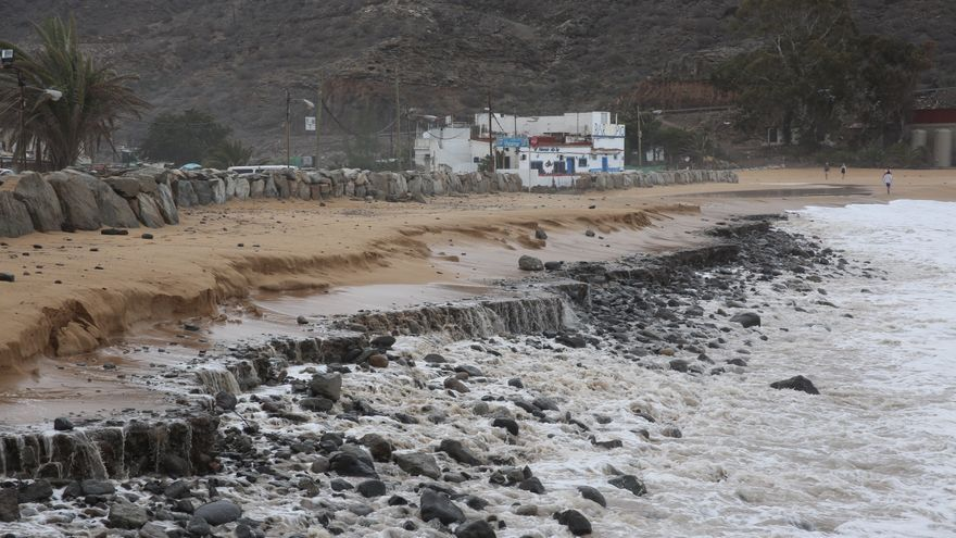 playa de maspalomas despues del temporal