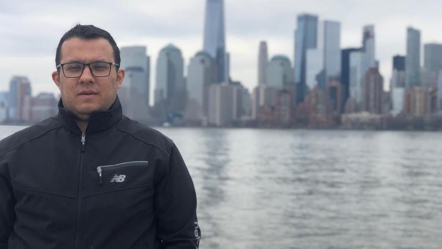 Ali Sipahi durante su viaje a Nueva York tras el que fue detenido en el aeropuerto de Sao Paulo.