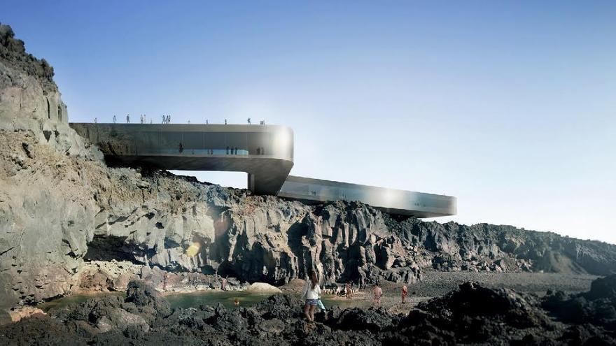 Recreación del proyecto 'Balneario de la Fuente Santa' de 'gpy arquitectos' .
