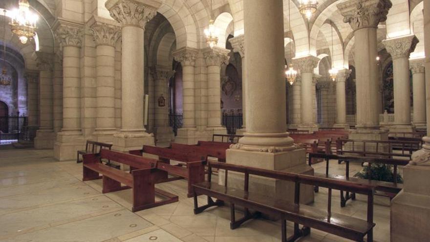 La cripta de la catedral de La Almudena, que podría albergar el cuerpo de Franco