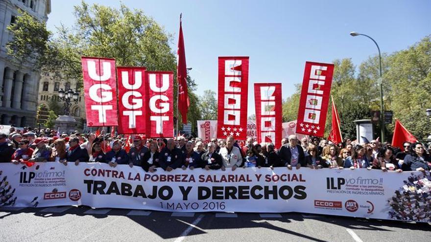 Comienza en Madrid la manifestación del 1 de mayo con miles de participantes