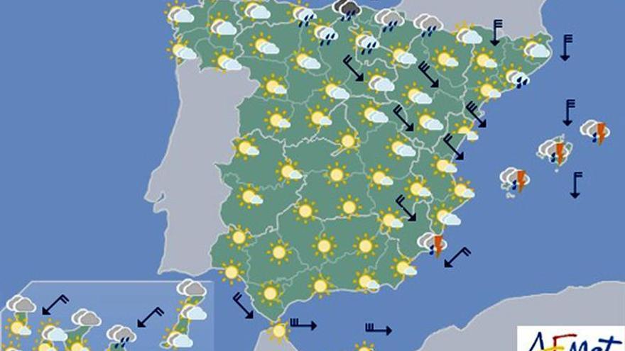 Hoy precipitaciones localmente fuertes en Cantabria, Navarra y Cataluña