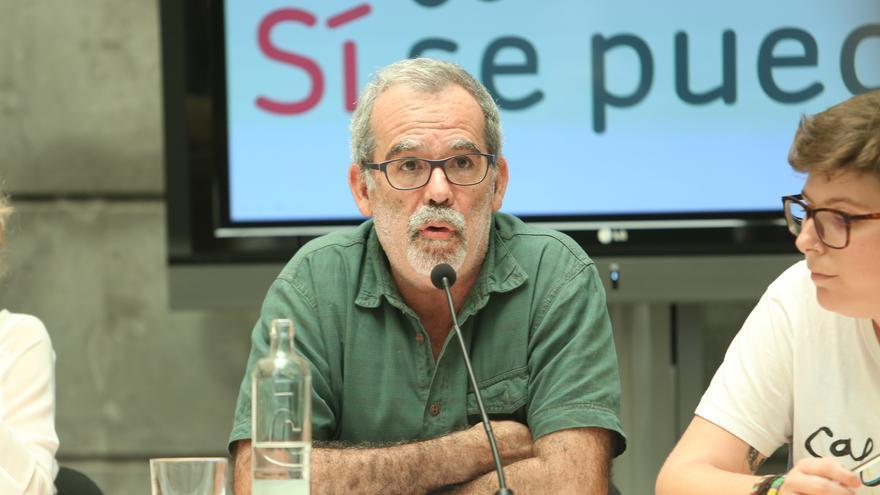 José de León, portavoz de Sí Se Puede. (ALEJANDRO RAMOS)