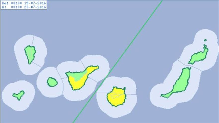 La Aemet activa el aviso amarillo en Tenerife y Gran Canaria por temperaturas máximas de 34 grados