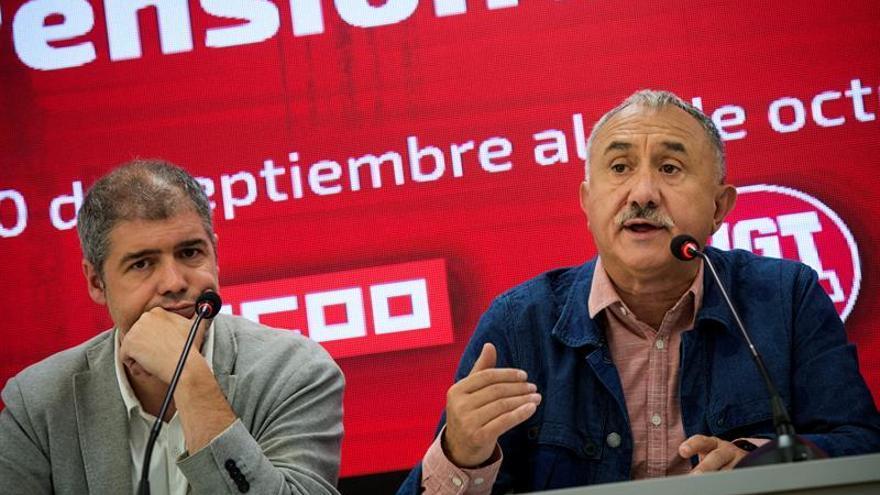 CCOO y UGT convocan movilizaciones en noviembre contra la actuación del Gobierno