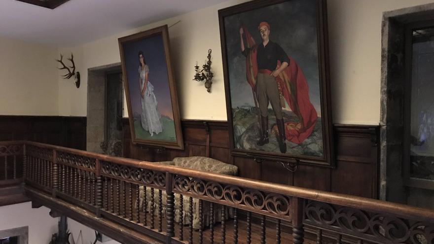 Retrato de Franco en Meirás, en una imagen captada por uno de los participantes en la ocupación