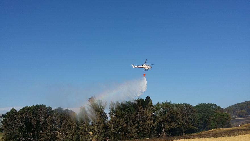 El Gobierno central aprueba las actuaciones iniciales para la restauración del área afectada por el incendio de Tafalla