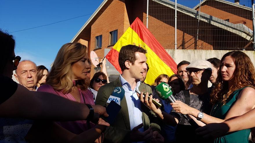 Pablo Casado, en la tercera jornada de campaña electoral.
