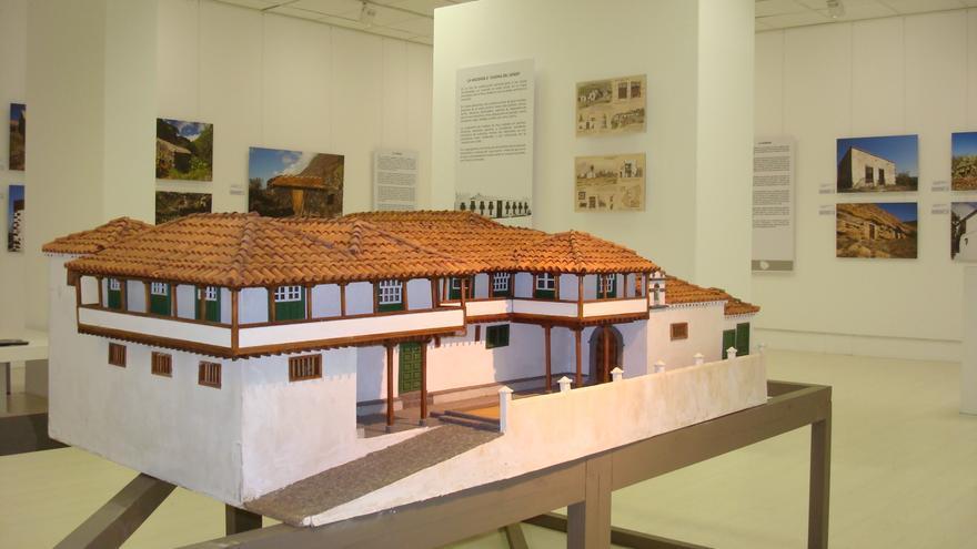 Maqueta de la exposición 'Memoria habitada', de la Fundación CajaCanarias