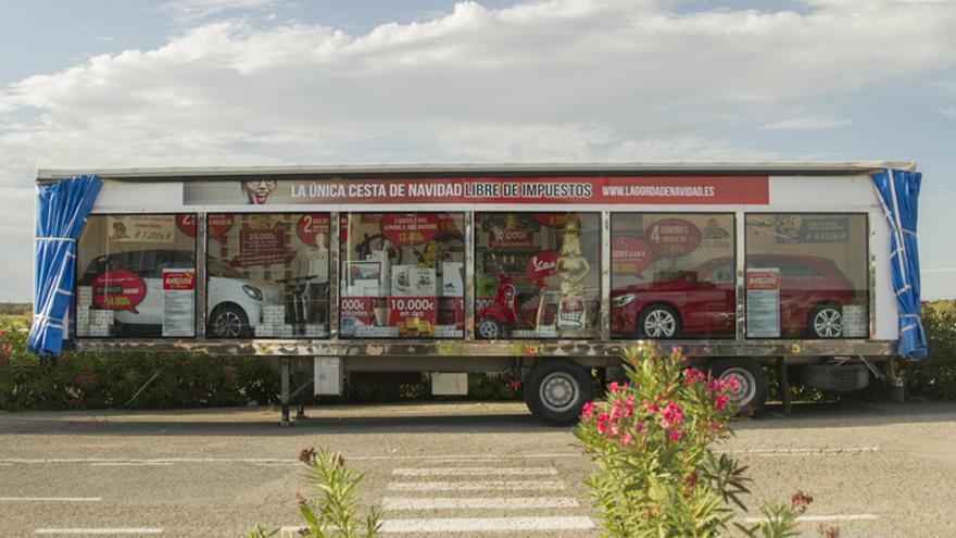 El camión de 'La Gorda de Navidad´'