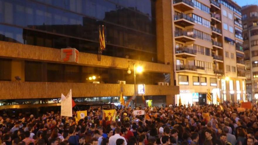 Concentración en Valencia en apoyo al derecho a decidir de Cataluña