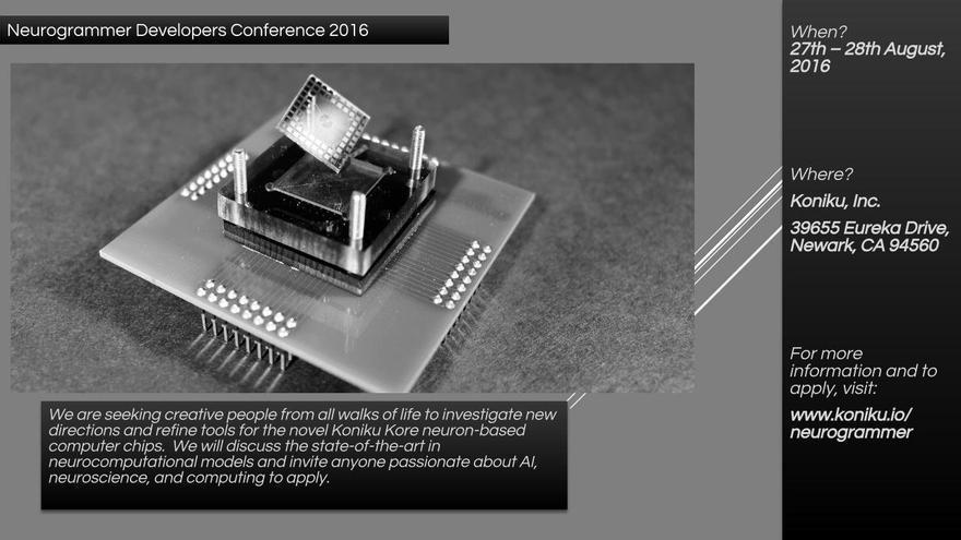 Chip neuronal desarrollado por la compañía Koniku