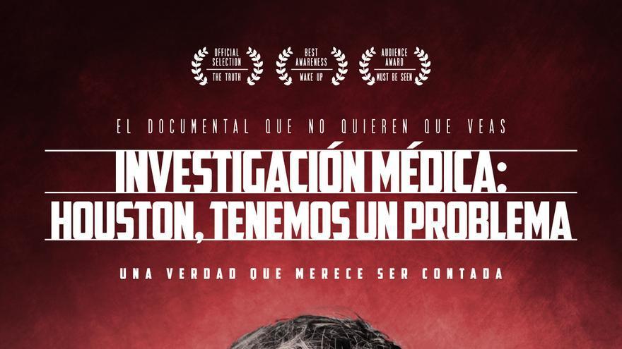 """Cartel del documental """"Investigación médica: Houston tenemos un problema"""""""
