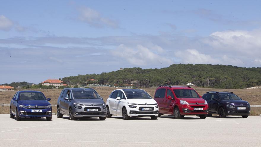 Los cinco modelos de Citroën que se fabrican en España.