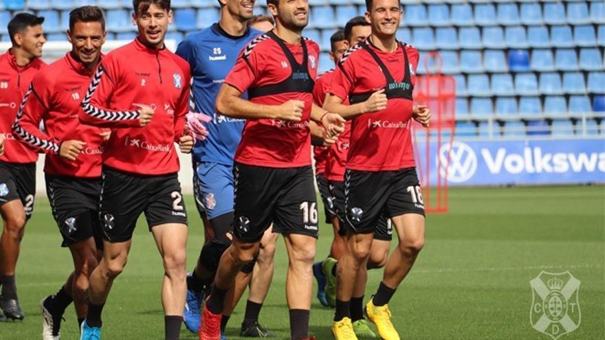 Aitor Sanz, en el último entrenamiento con el equipo blanquiazul