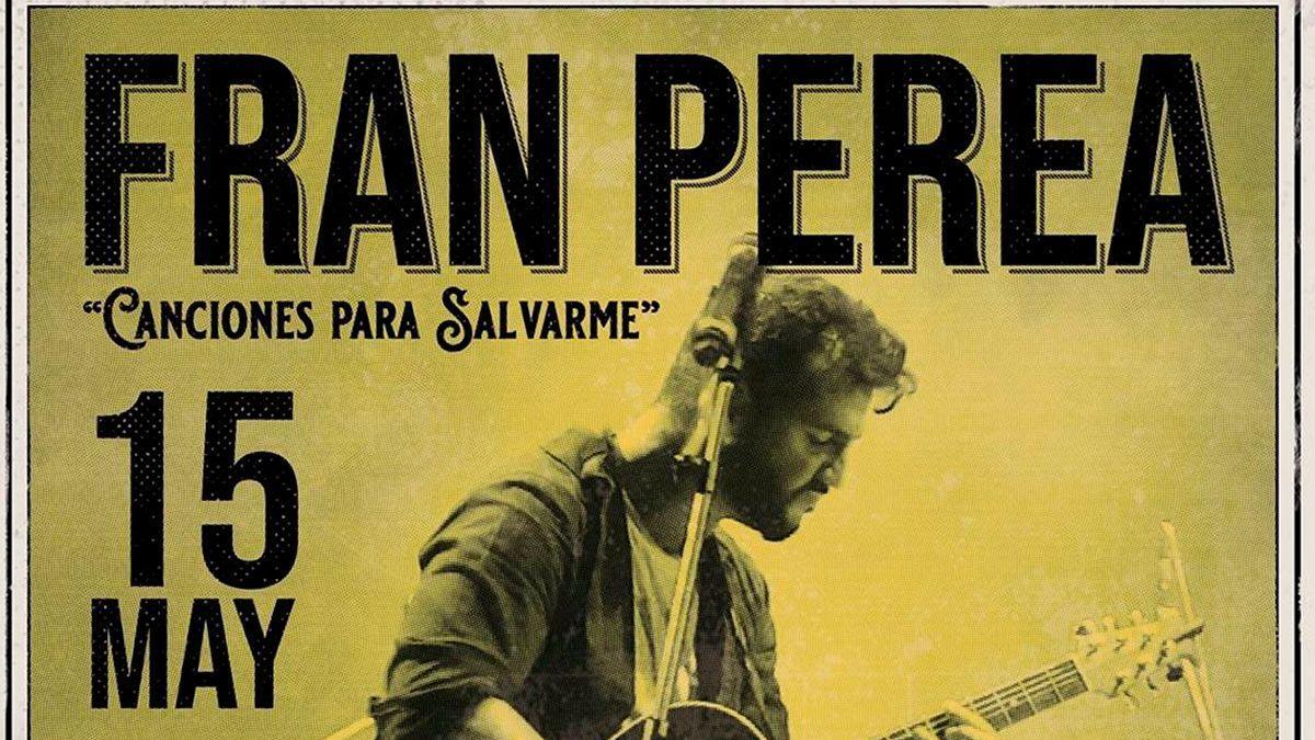 Cartel de la gira de Fran Perea.