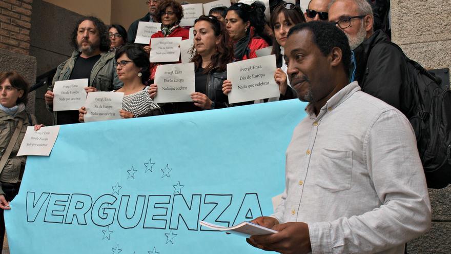 Braulio Freire en una movilización en Toledo / Coordinadora ONGD CLM