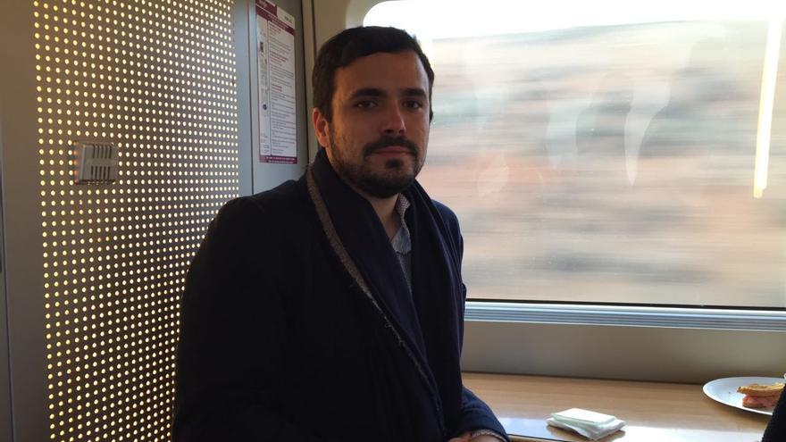 Alberto Garzón, durante la entrevista