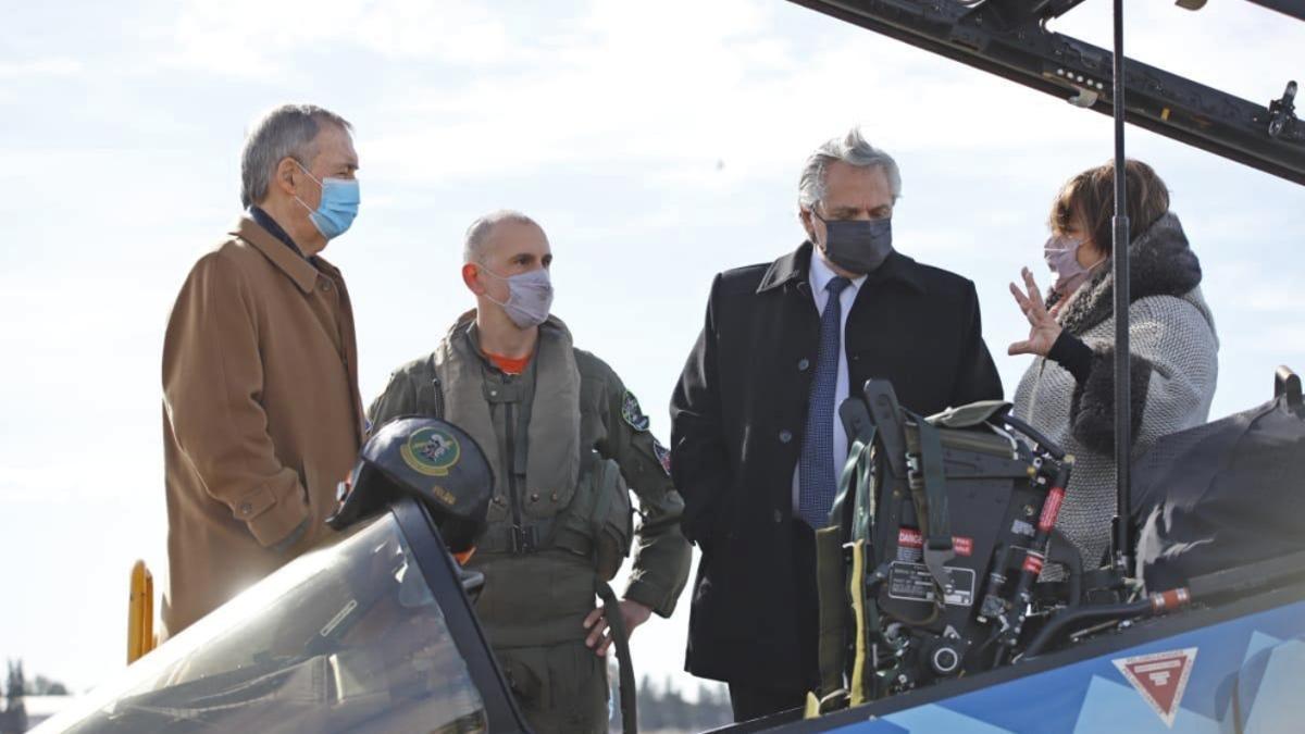 Alberto Fernández junto a Juan Scharetti, durante una actividad en Córdoba