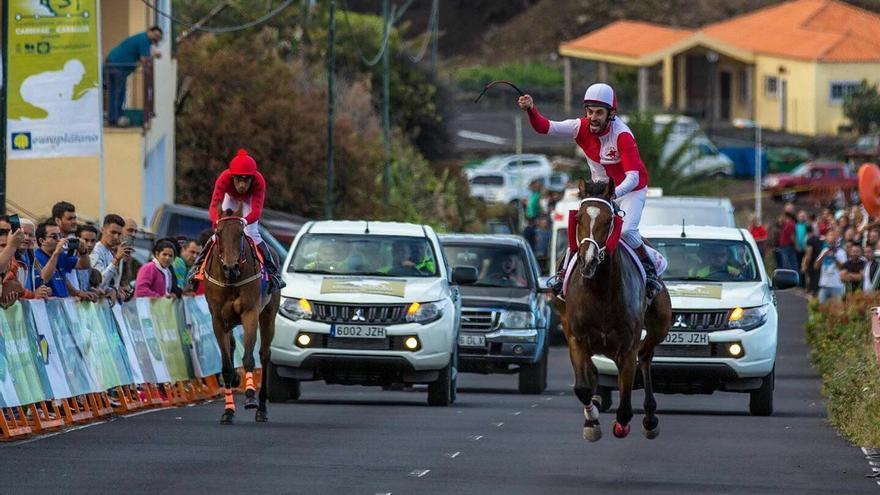 Imagen del Campeonato Insular de Carreras de Caballos. Foto:  Rober Rodríguez.