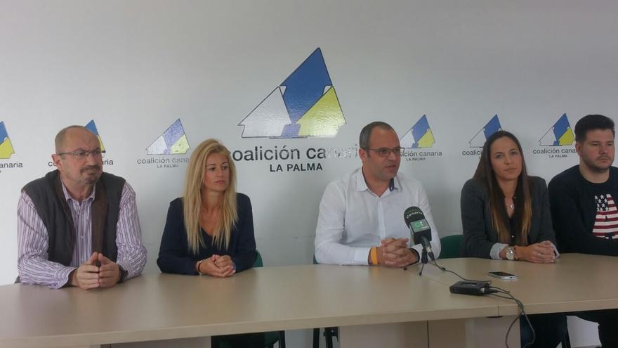 En la imagen, presentación, este miércoles, del nuevo comité local de CC en la capital.