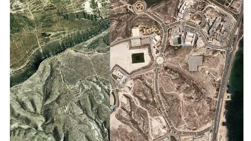 El antes y el después de la Ciudad de la Luz, en Alicante.