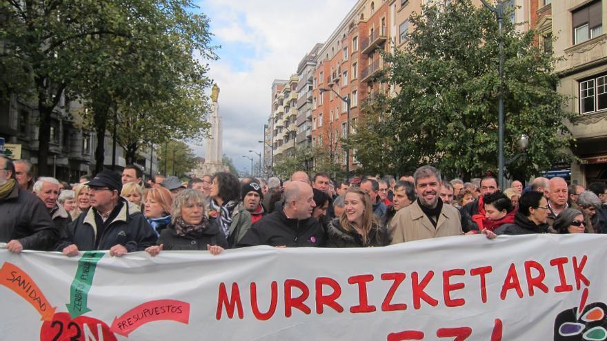 Miles de personas reclaman en Bilbao una Europa social y el fin de los recortes