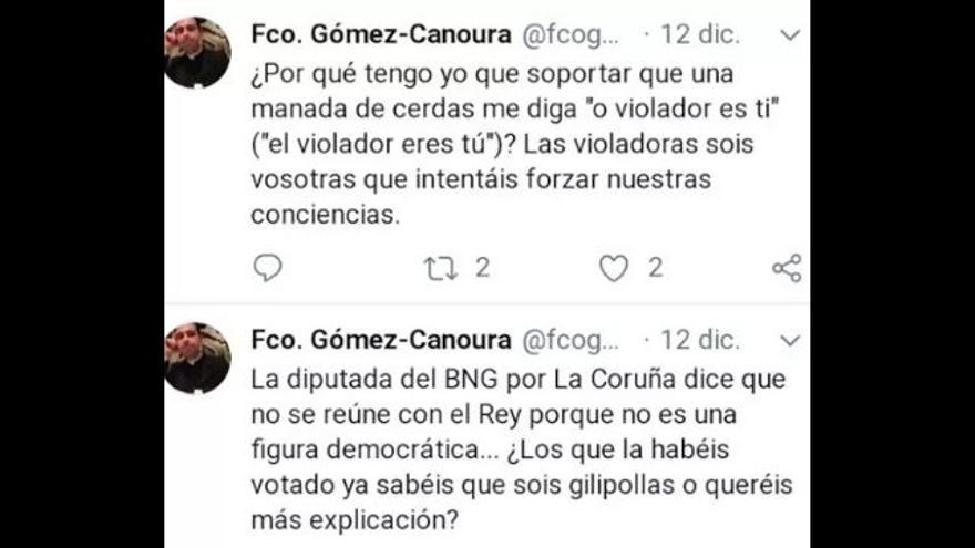 Captura de los tuits publicados por el párroco