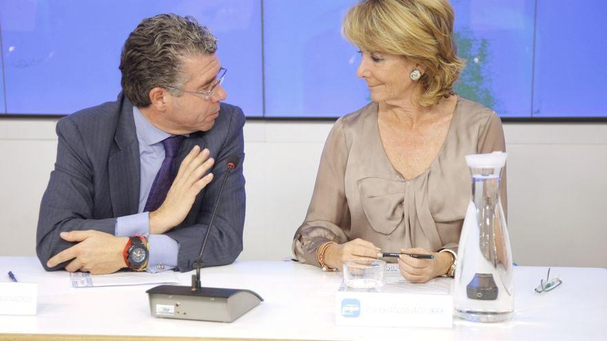 Francisco Granados y Esperanza Aguirre