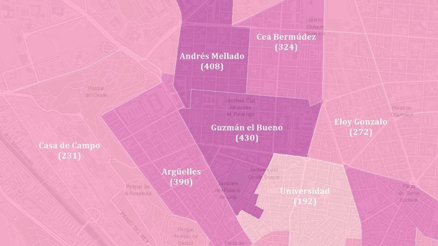 Guzmán el Bueno y Andrés Mellado ya son las zonas con más incidencia de Covid-19 en toda la capital
