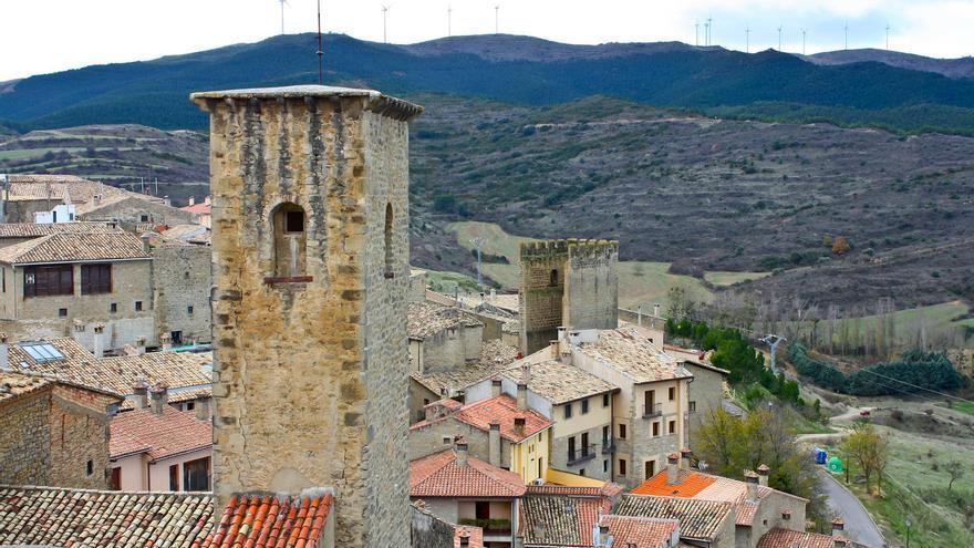 Torres y tejados de Sos del Rey Católico, la joya de las Cinco Villas. Jesús Abizanda.