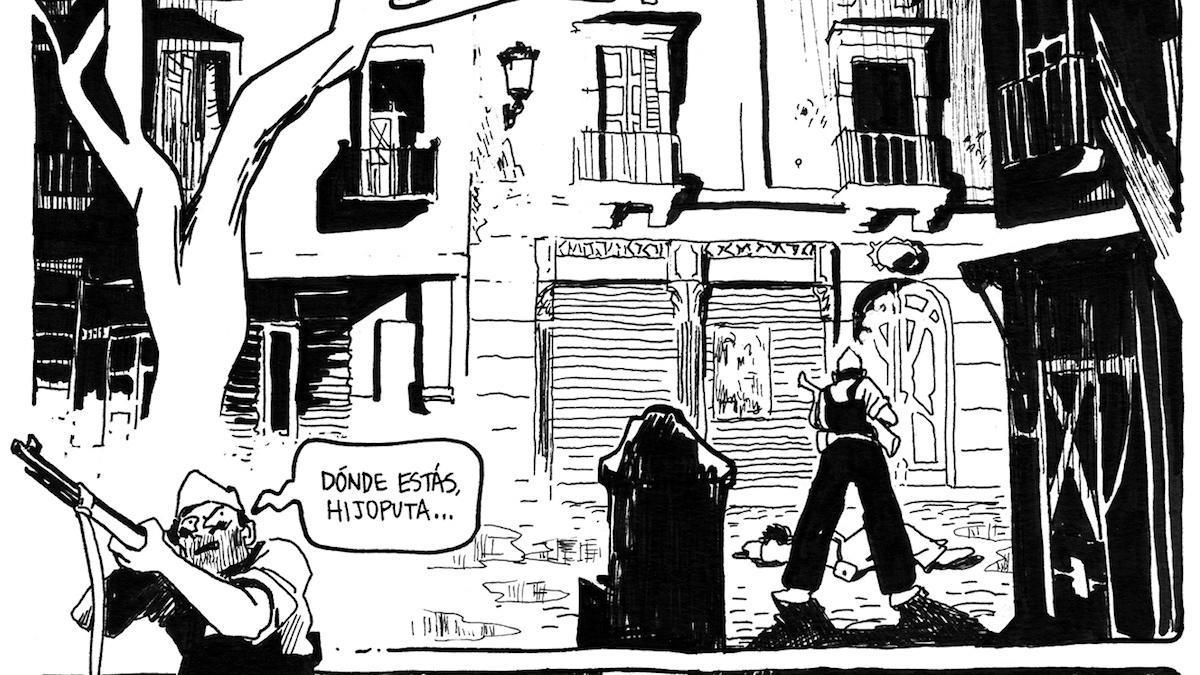 Una de las viñetas de '15', de Andrés G. Leiva y David Muñoz.
