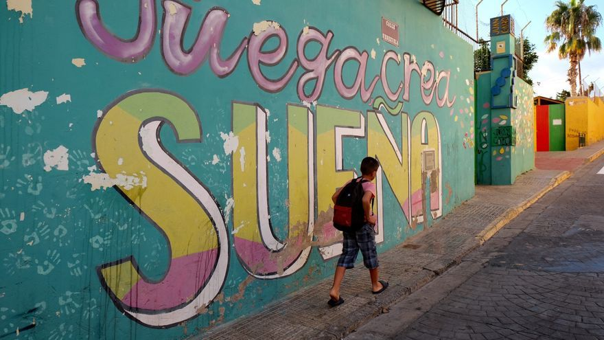 Uno de los niños que, tras un año de protestas, ha conseguido plaza en una escuela de Melilla.